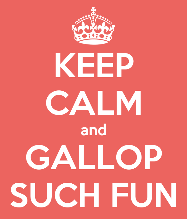 KEEP CALM and GALLOP SUCH FUN
