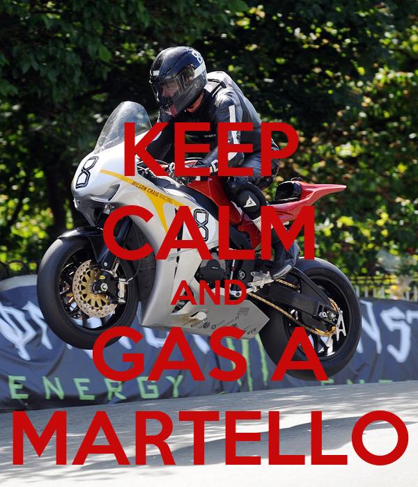 KEEP CALM AND GAS A MARTELLO