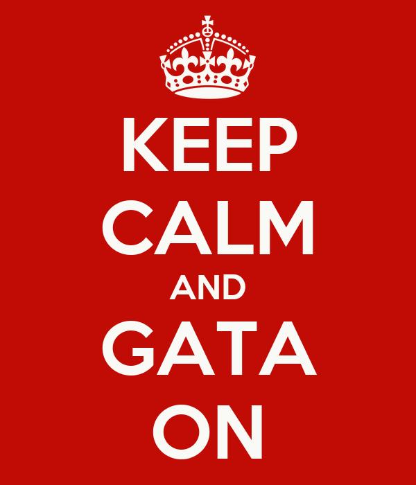KEEP CALM AND GATA ON