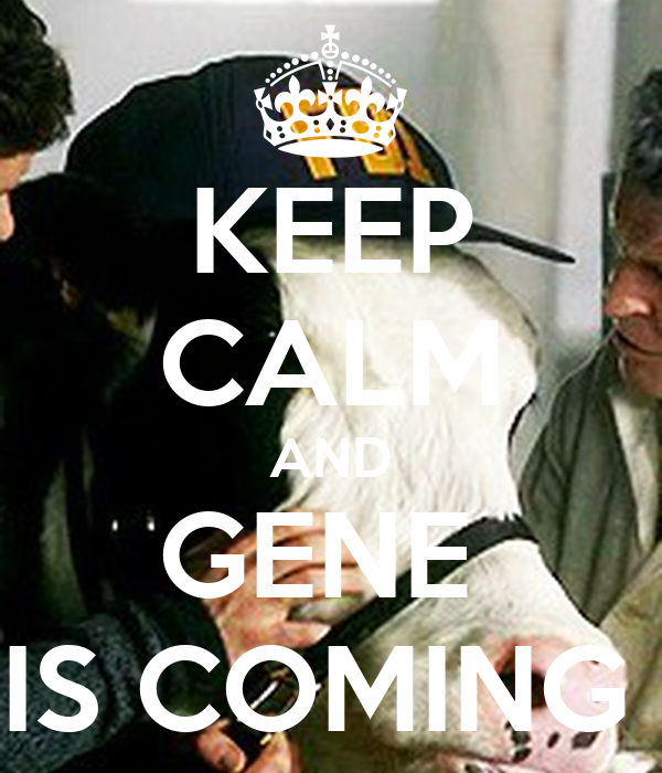 KEEP CALM AND GENE  IS COMING