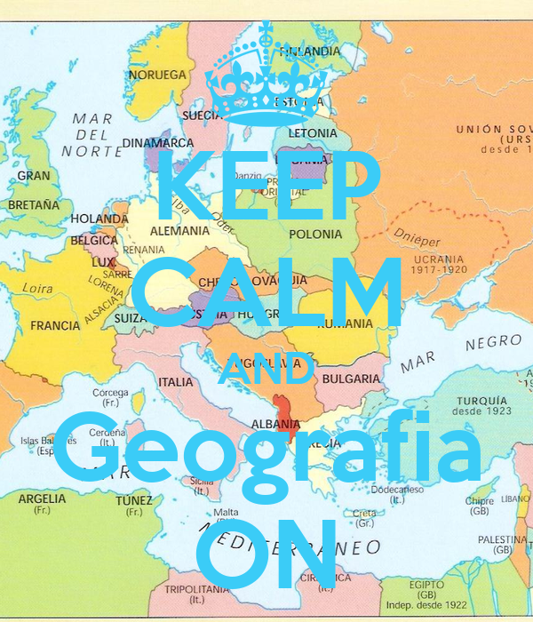 KEEP CALM AND Geografia ON