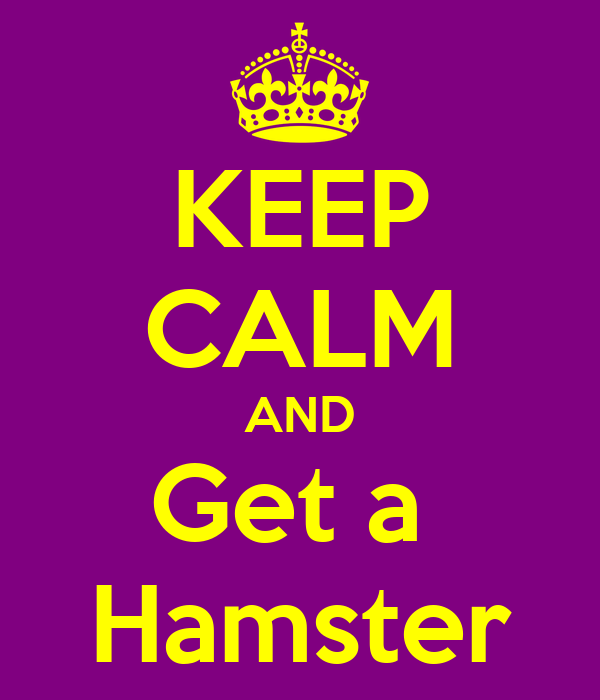 KEEP CALM AND Get a  Hamster