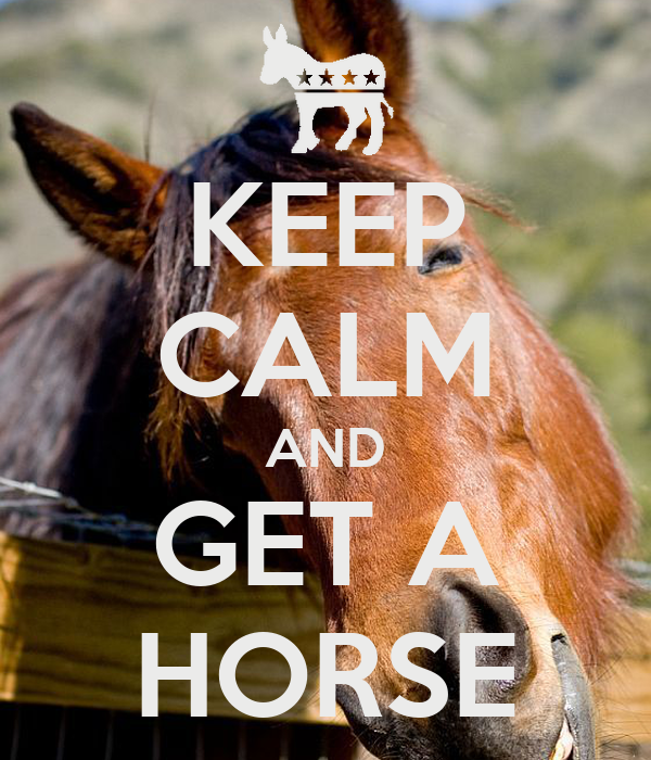 KEEP CALM AND GET A HORSE
