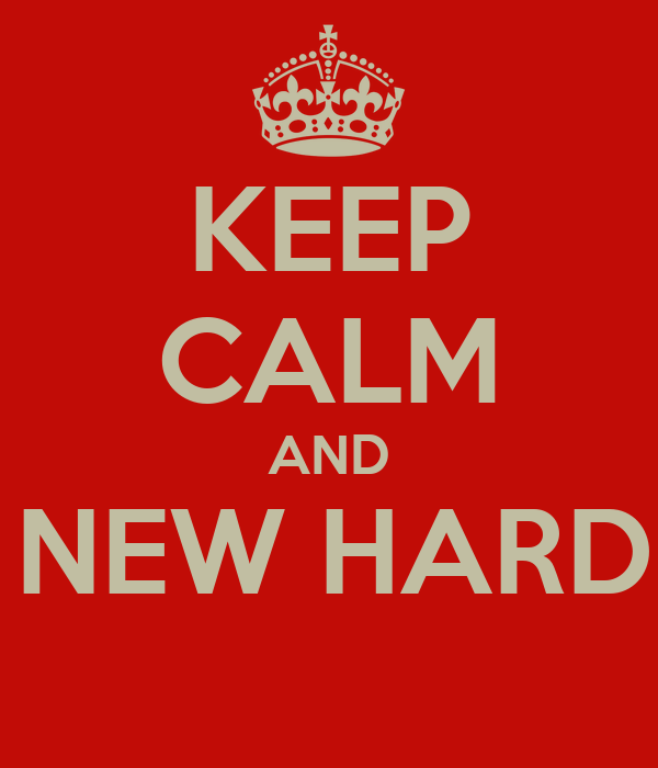 KEEP CALM AND GET A NEW HARD DRIVE