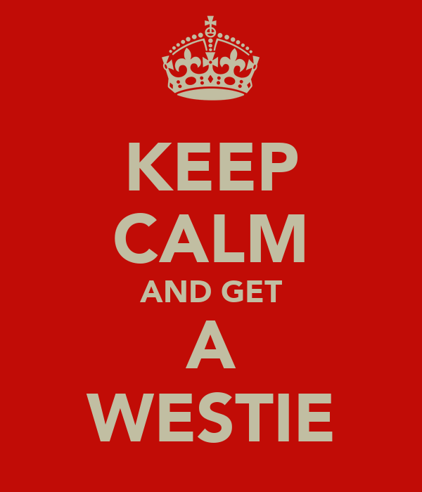 KEEP CALM AND GET A WESTIE