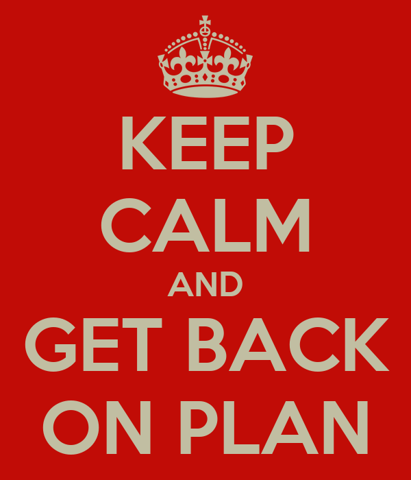 KEEP CALM AND GET BACK ON PLAN