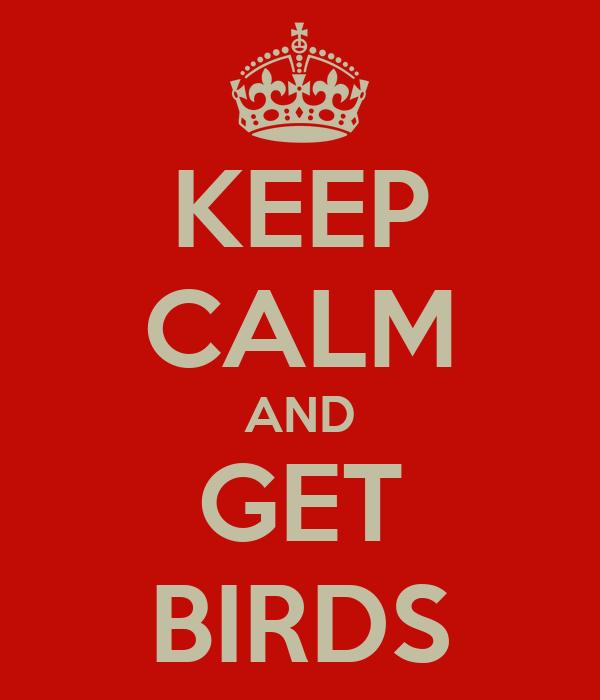 KEEP CALM AND GET BIRDS