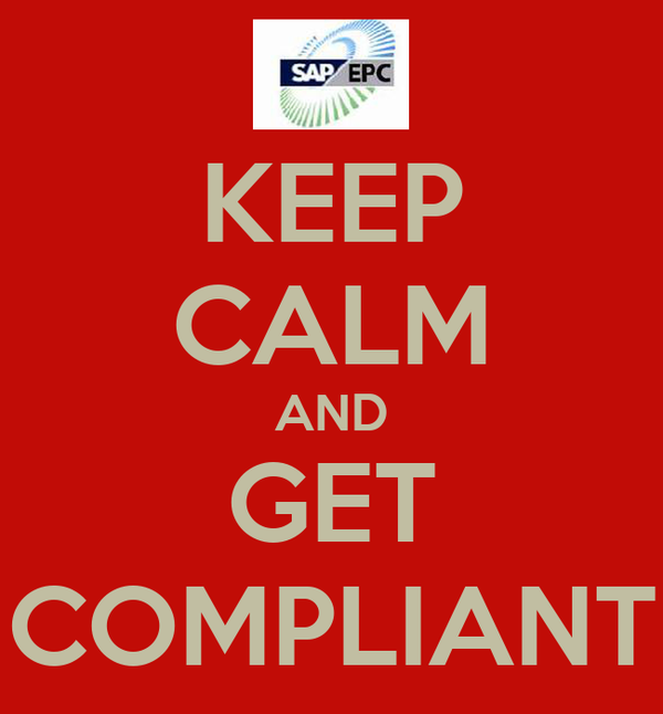 KEEP CALM AND GET COMPLIANT