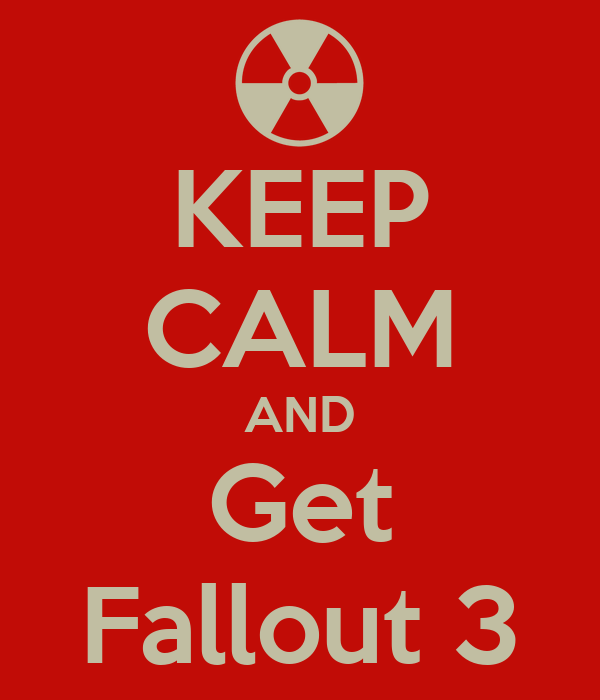 KEEP CALM AND Get Fallout 3