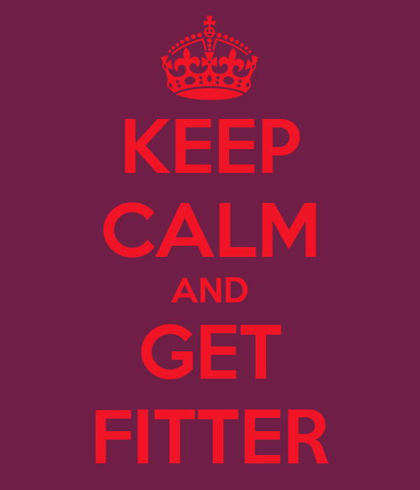 KEEP CALM AND GET FITTER