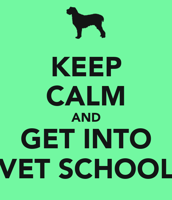 KEEP CALM AND GET INTO VET SCHOOL