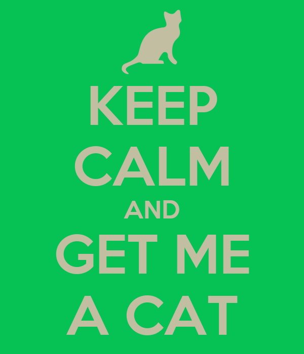 KEEP CALM AND GET ME A CAT
