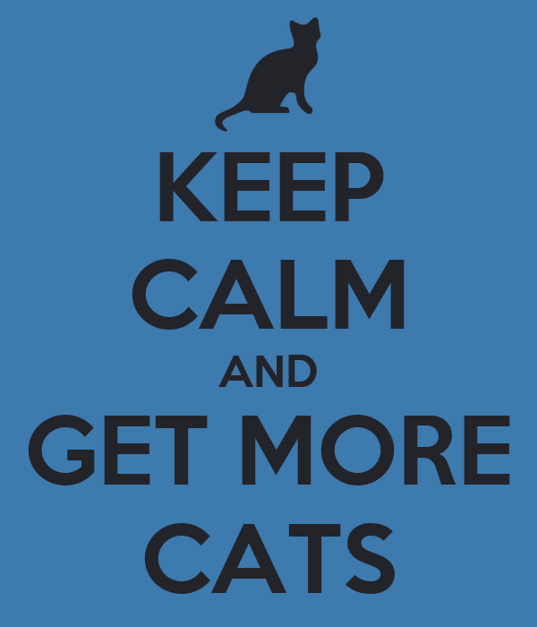 KEEP CALM AND GET MORE CATS