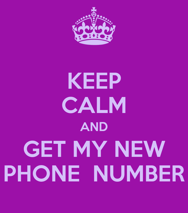 keep calm and get my new phone number poster tanja