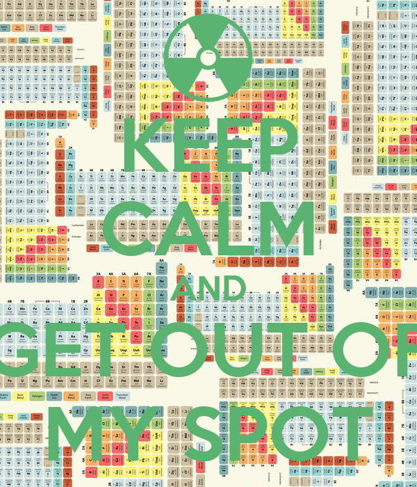 KEEP CALM AND GET OUT OF MY SPOT