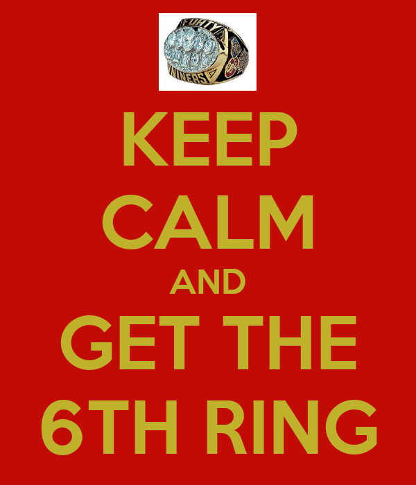 KEEP CALM AND GET THE 6TH RING