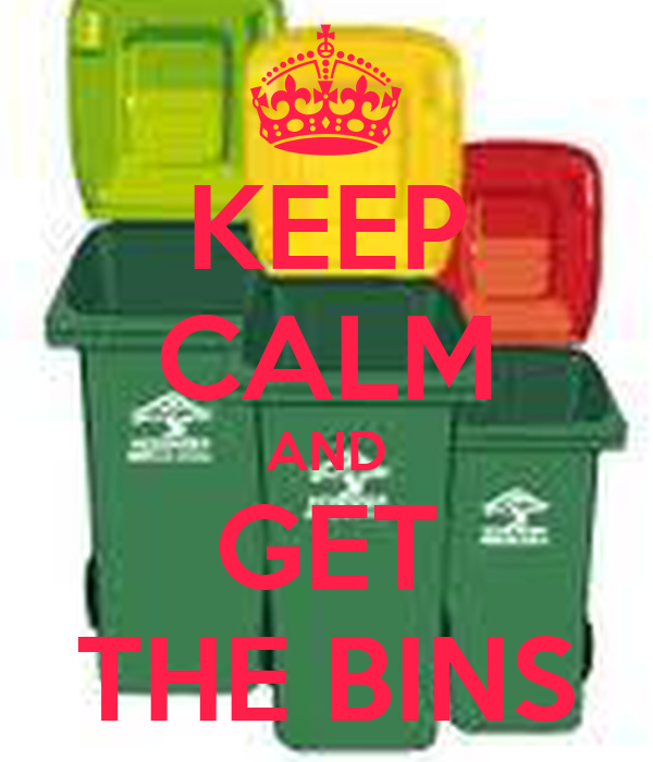 KEEP CALM AND GET THE BINS