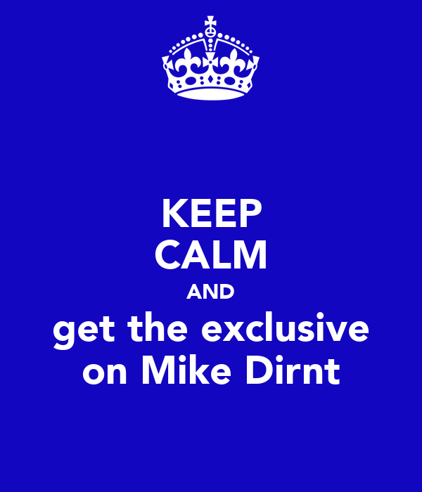 KEEP CALM AND get the exclusive on Mike Dirnt
