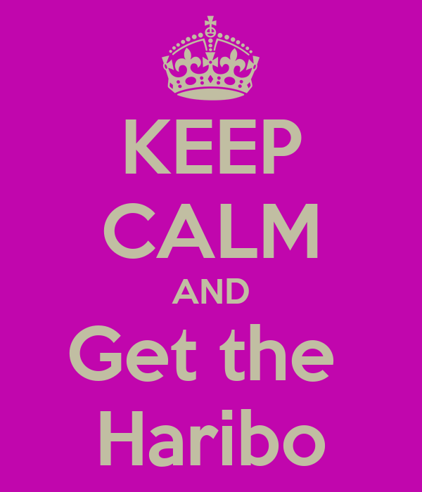 KEEP CALM AND Get the  Haribo