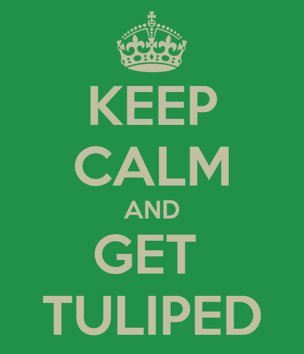 KEEP CALM AND GET  TULIPED