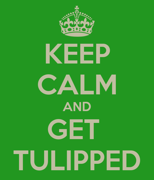 KEEP CALM AND GET  TULIPPED