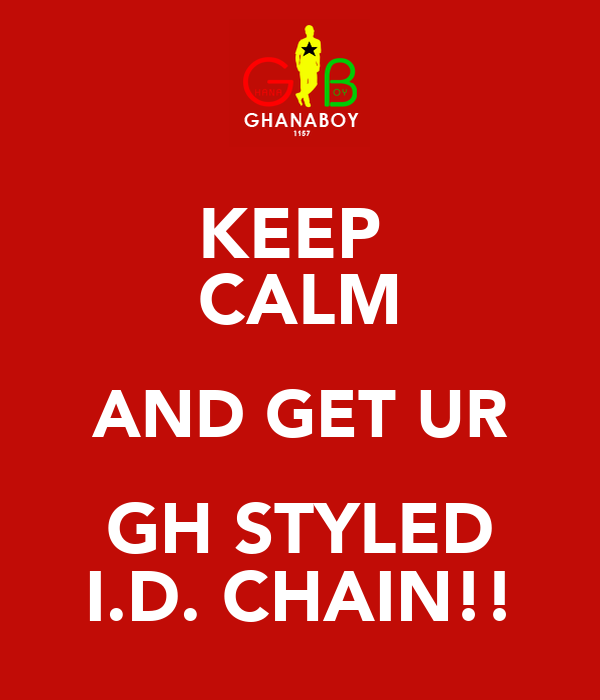 KEEP  CALM AND GET UR GH STYLED I.D. CHAIN!!