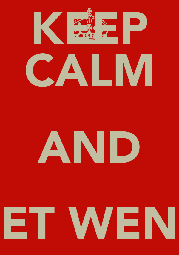 KEEP CALM AND GET WENG