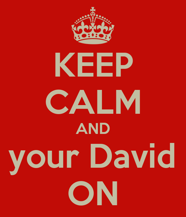 KEEP CALM AND Get your David Lee ON