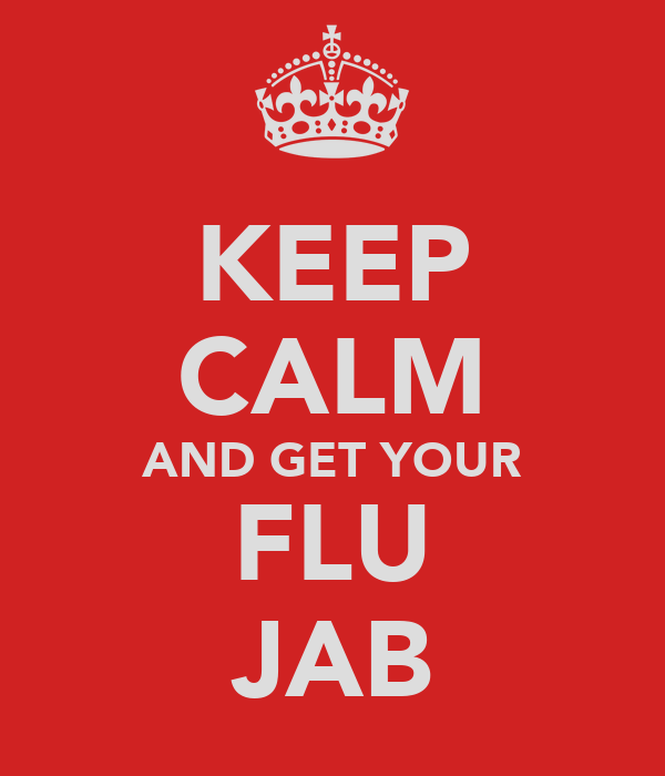 KEEP CALM AND GET YOUR FLU JAB