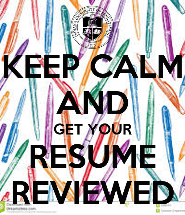 keep calm and get your resume reviewed poster blair