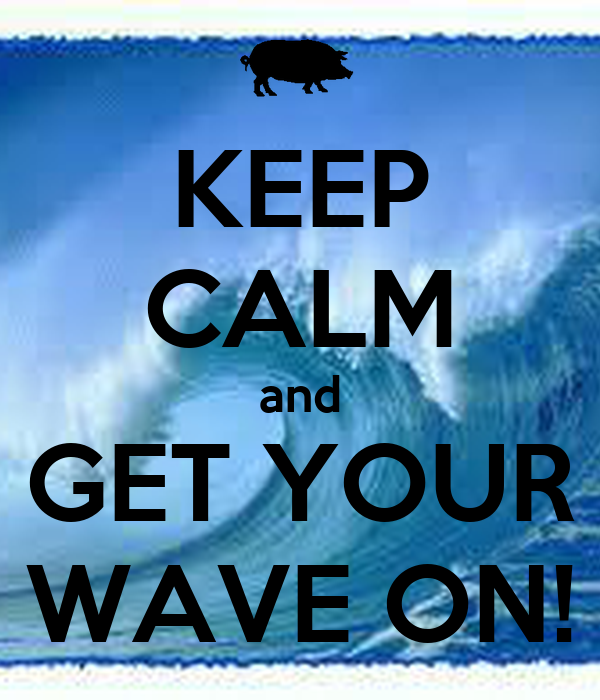 KEEP CALM and GET YOUR WAVE ON!