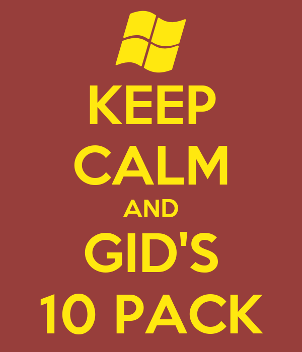 KEEP CALM AND GID'S 10 PACK