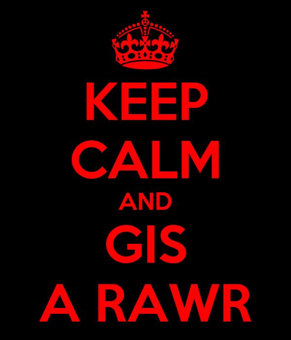 KEEP CALM AND GIS A RAWR