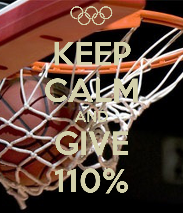 KEEP CALM AND GIVE 110%