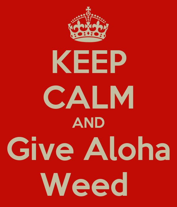 KEEP CALM AND Give Aloha Weed