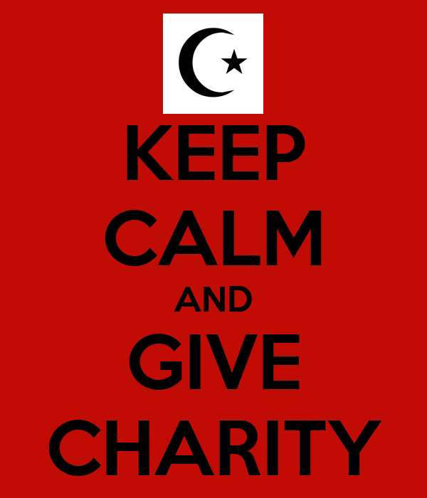 KEEP CALM AND GIVE CHARITY