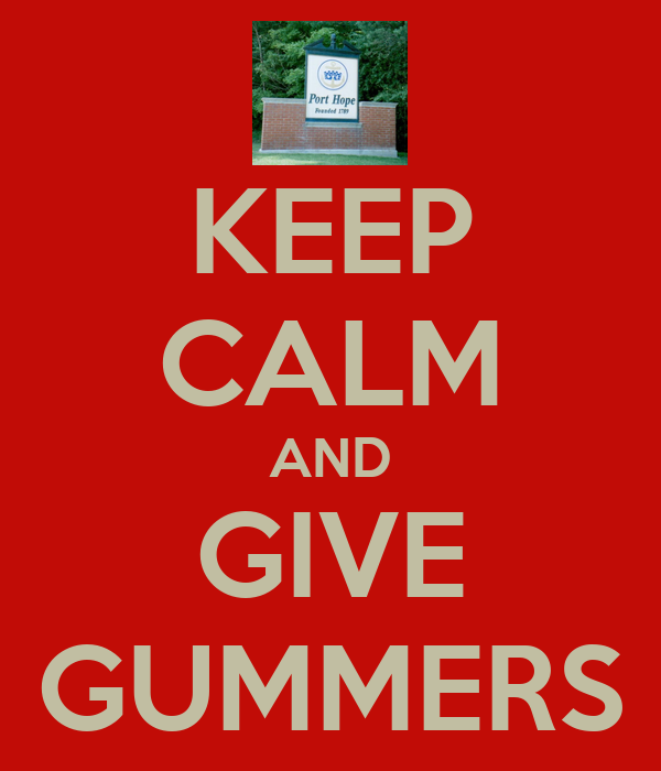 KEEP CALM AND GIVE GUMMERS