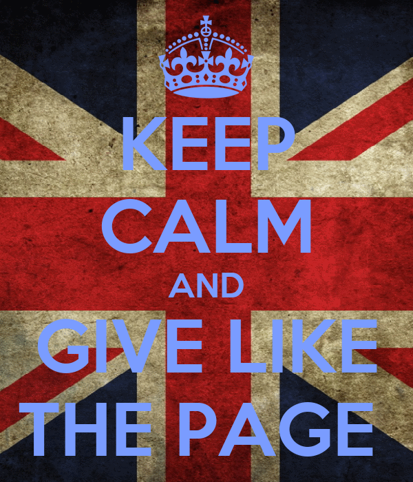 KEEP CALM AND GIVE LIKE THE PAGE