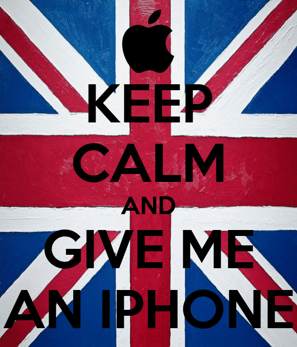 KEEP CALM AND GIVE ME AN IPHONE