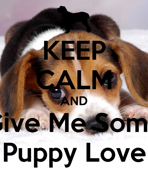 KEEP CALM AND Give Me Some Puppy Love