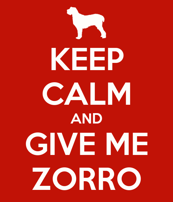 KEEP CALM AND GIVE ME ZORRO