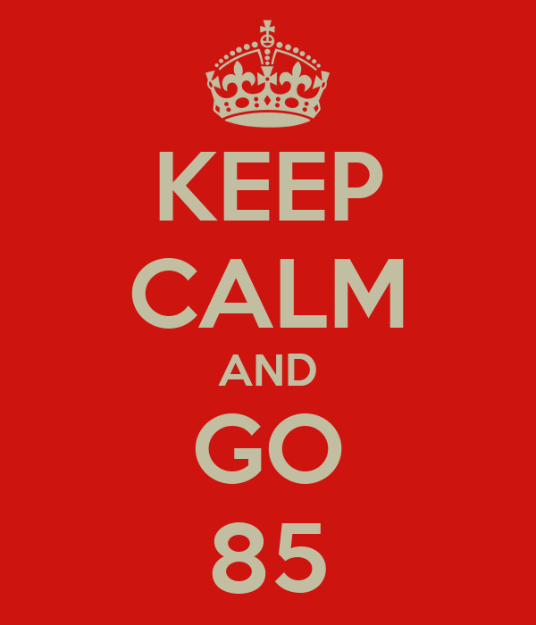 KEEP CALM AND GO  85