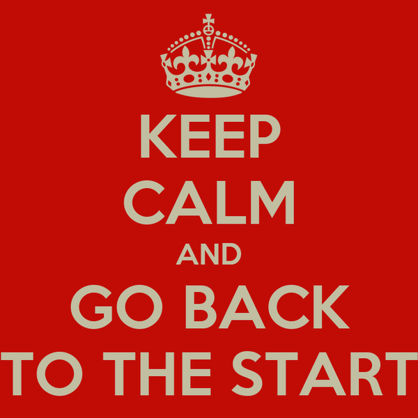 keep calm and go back to the start poster michelac keep calm o matic. Black Bedroom Furniture Sets. Home Design Ideas