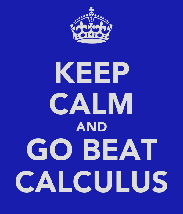 KEEP CALM AND GO BEAT CALCULUS