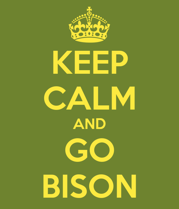 KEEP CALM AND GO BISON