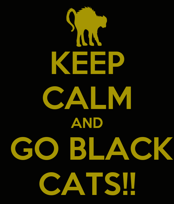 KEEP CALM AND  GO BLACK CATS!!