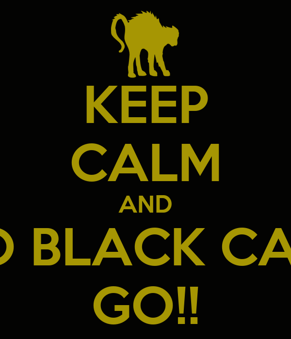 KEEP CALM AND GO BLACK CATS GO!!