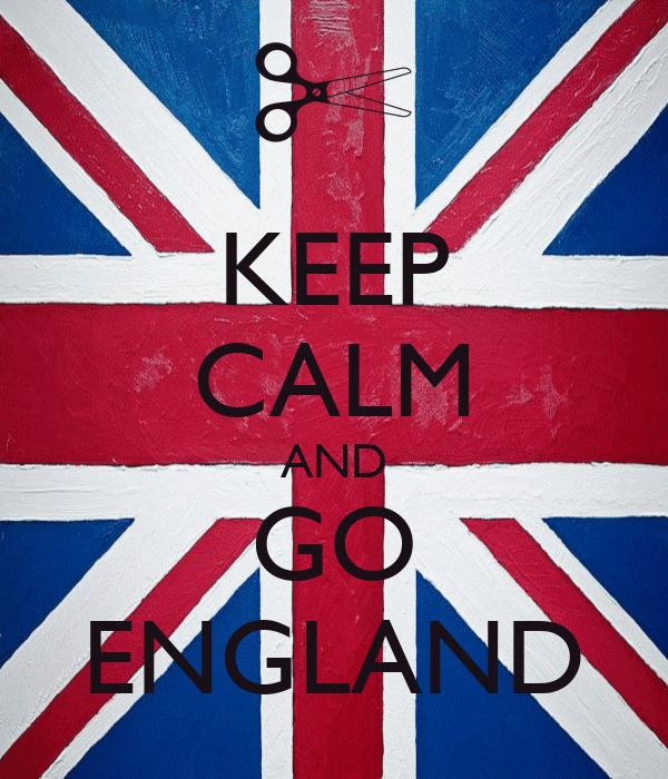 KEEP CALM AND GO ENGLAND