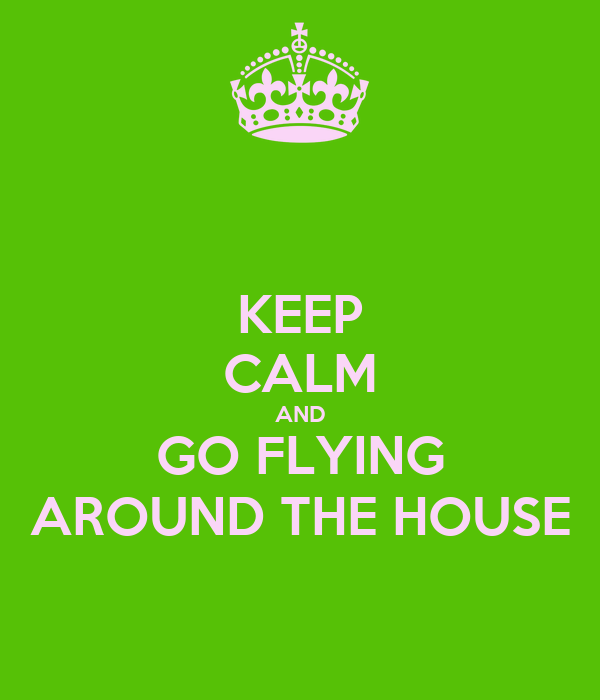 KEEP CALM AND GO FLYING AROUND THE HOUSE