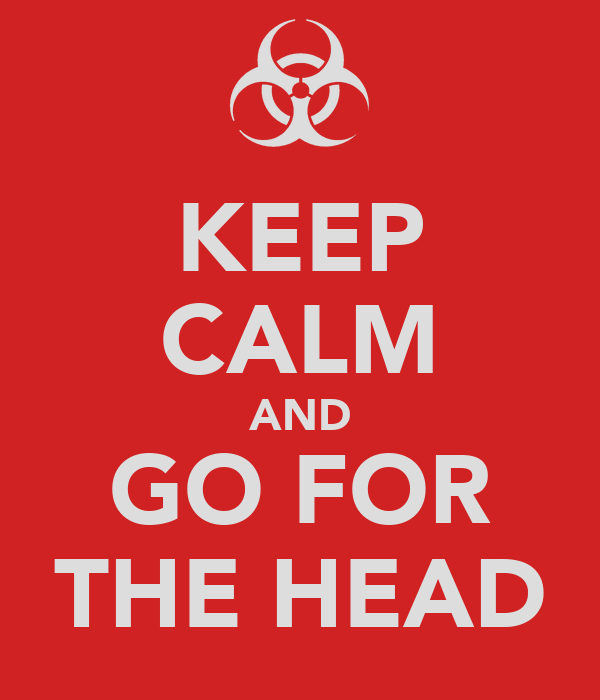 KEEP CALM AND GO FOR THE HEAD